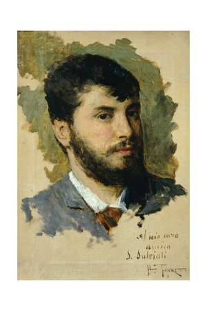 Self-Portrait Giclee Print by Giacomo Favretto