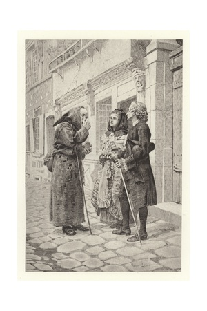 The Snuff-Box Giclee Print by Maurice Leloir