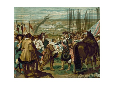 The Surrender of Breda, Netherlands, 1625 Giclee Print by Diego Rodriguez de Silva y Velazquez