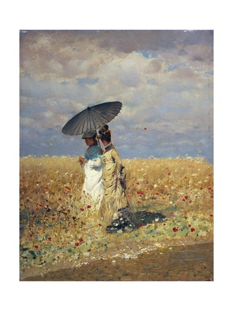 A Field of Wheat Giclee Print by Giuseppe De Nittis