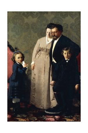 The Family Guidini, 1873 Giclee Print by Giacomo Favretto