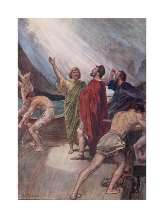 Timoleon Setting Sail for Sicily Giclee Print by William Rainey