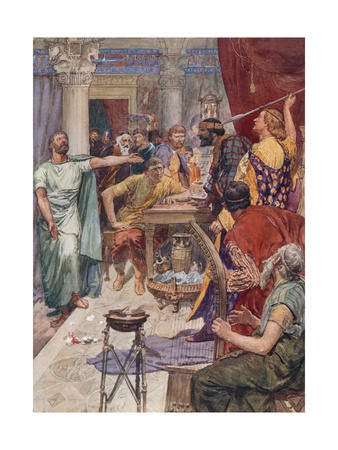 The Quarrel Between Alexander and Clitus Giclee Print by William Rainey