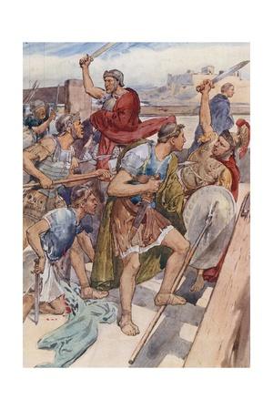 The Pursuit of Caius Gracchus Giclee Print by William Rainey