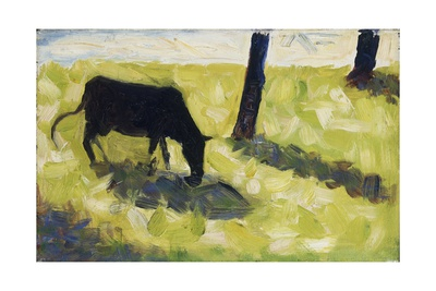 Black Cow in a Meadow, 1881 Giclee Print by Georges Seurat
