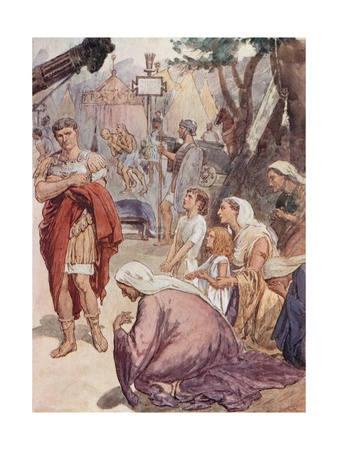 Coriolanus and the Matrons of Rome Giclee Print by William Rainey