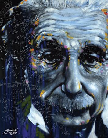 Albert Einstein Tarjeta de póster