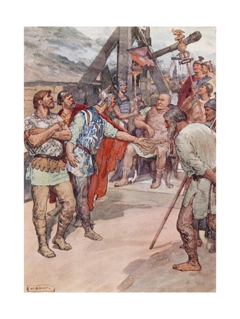 Marius and the Ambassadors of the Cimbri Giclee Print by William Rainey