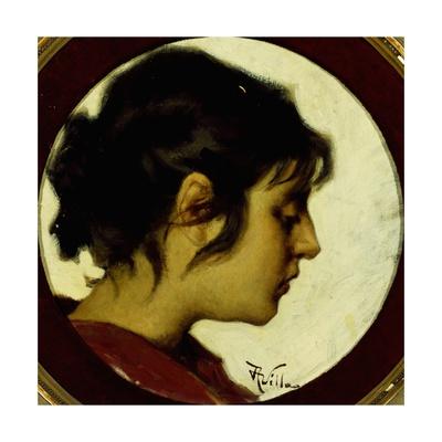 Female Profile Giclee Print by Aleardo Villa
