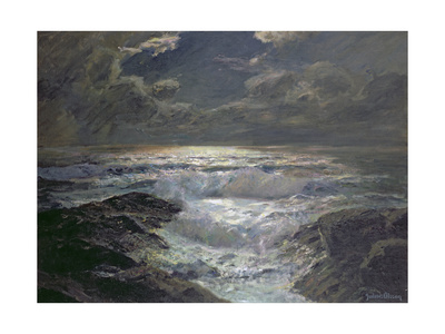 Moonlight, Cornish Coast Giclee Print by Albert Julius Olsson