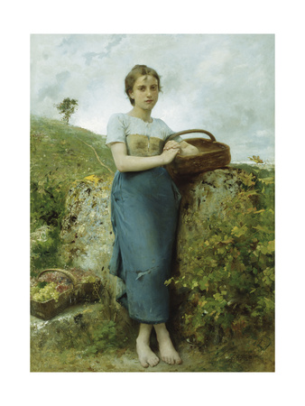 The Grape Picker, 1895 Giclee Print by Leon Bazile Perrault