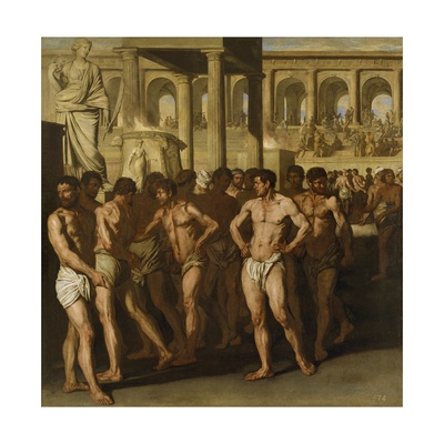Gladiators Giclée-tryk af Aniello Falcone