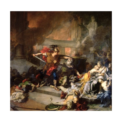 The Death of Priam, 1785 Giclee Print by Jean-Baptiste Regnault