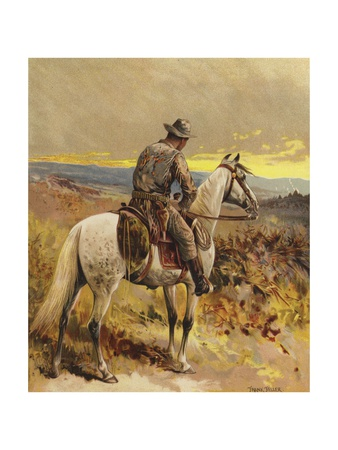 A Scout - North America Giclee Print by Frank Feller