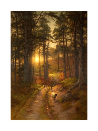 The Sun Fast Sinks in the West Giclee Print by Joseph Farquharson