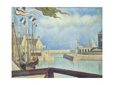 Sunday, Port-En-Bessin, 1888 Giclee Print by Georges Seurat