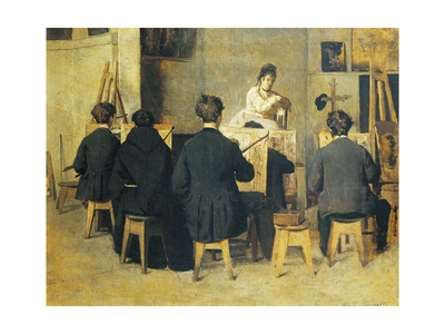 School of Painting, 1871 Giclee Print by Giacomo Favretto