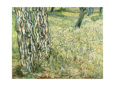 Tree Trunks in Grass, 1890 Giclee Print by Vincent van Gogh