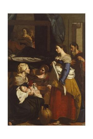 Birth of Virgin Giclee Print by Francesco Guarino
