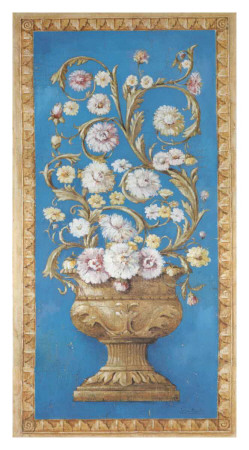 Floreros Renacimiento II Poster by Javier Fuentes