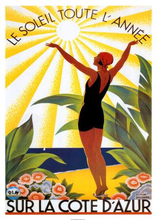 Soleil Toute Lannee Prints by Roger Broders