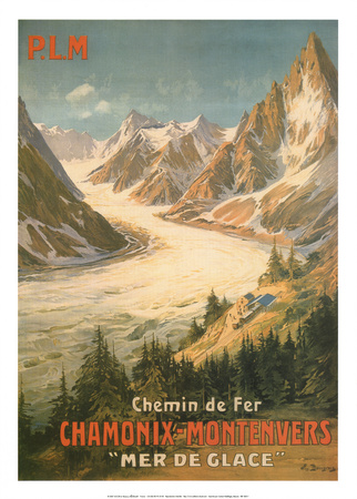 Chemin De Fer Chamonix-Montenvers Art by  Bourgeois