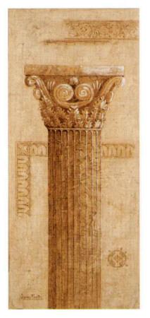 Sepia Column Study IV Print by Javier Fuentes