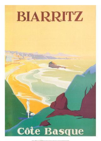Biarritz Print by  Debo