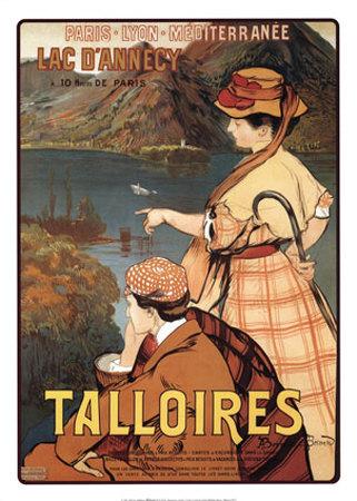 Talloires Print by Albert Besnard