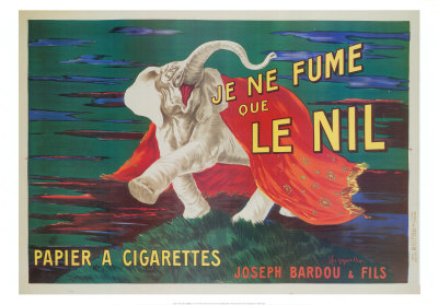 Je ne fume que Le Nil (carte postale grand format) Reproduction d'art