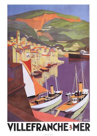 Villefranche Prints by Roger Broders