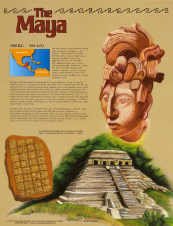 Les Mayas Reproduction d'art