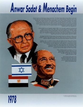 Anwar Sadat & Menachem Begin Prints