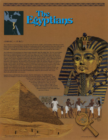 Les Egyptiens Reproduction d'art
