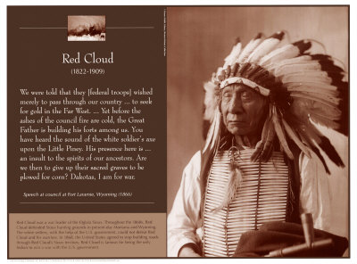 Red Cloud Reproduction d'art