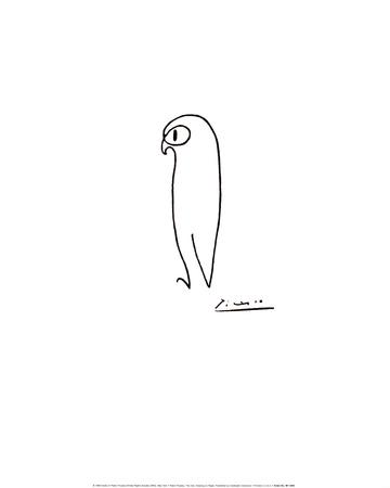 Ugle Poster af Pablo Picasso