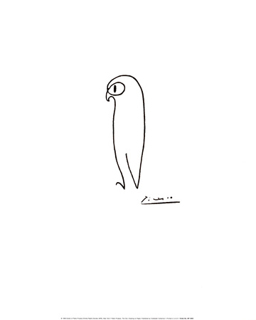 フクロウ ポスター : パブロ・ピカソ