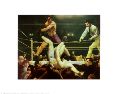 Dempsey and Firpo, 1924 Plakater af George Wesley Bellows
