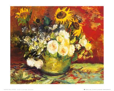flowers in vase van gogh. Vase of Flowers Art Print