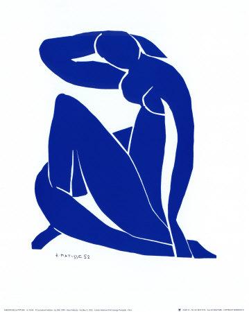 Blauw naakt II Print van Henri Matisse