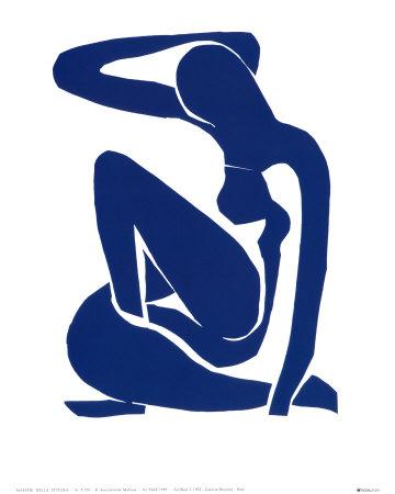 Blauw naakt I, ca. 1952 Poster van Henri Matisse
