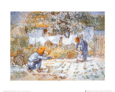 First Steps Póster por Vincent van Gogh