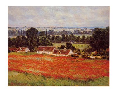 Field of Poppies Reproduction d'art