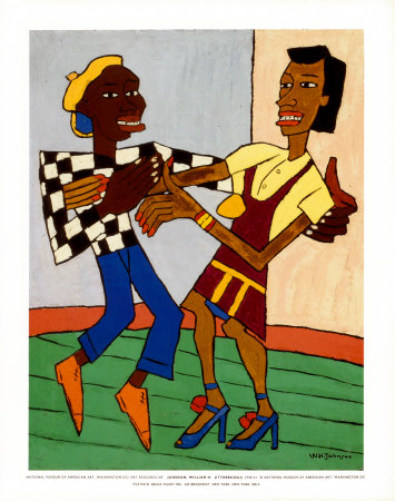Jitterbugs Print by William H. Johnson
