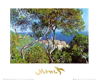 Landscape at Bordighera Art Print