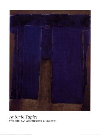 Composition Ultramarine Prints by Antoni Tapies