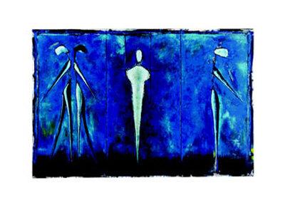 M-2 (Blue) Poster by Heinz Felbermair