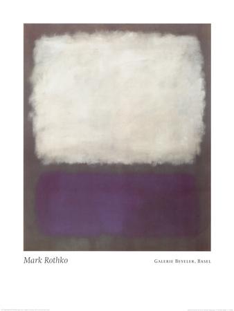 青、グレー 1962年 ポスター : マーク・ロスコ