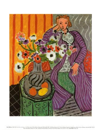 Purple Robe and Anemones 1937 Prints by Henri Matisse