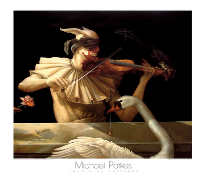 Water Music Print by Michael Parkes